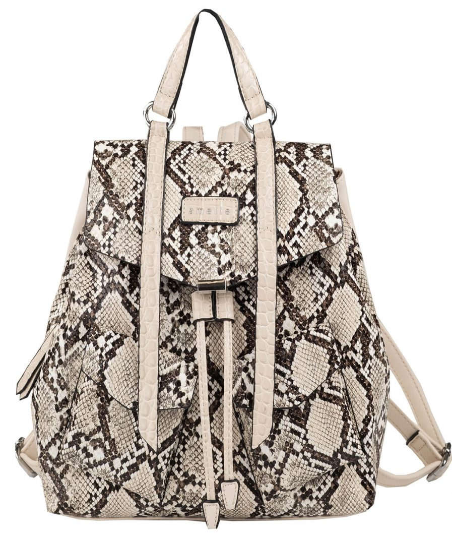Backpack snake print